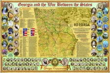 GEORGIA AND THE WAR BETWEEN THE STATES POSTER